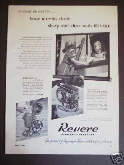 Revere 70 Movie Camera 48 Projector Kids Photo (1949)