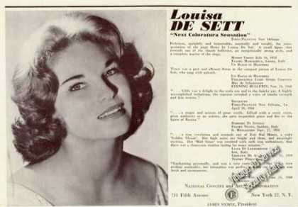 Louisa De Sett Photo Coloratura Trade (1961)