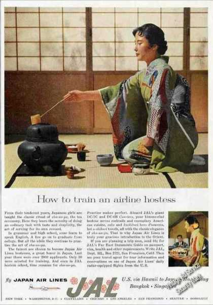 """How To Train a Hostess"" Nicejapan Air Lines (1959)"