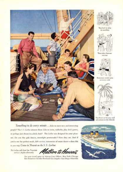 Matson Line Cruise Ship To Hawaii (1951)