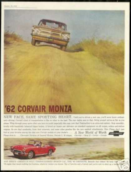 Chevrolet Corvair Monza Corvette Photo Vintage (1962)