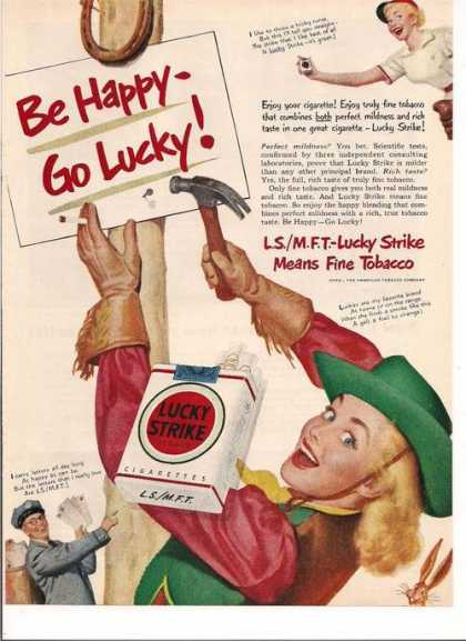 Be Happy Be Lucky Lucky Strike Cigarettes (1950)