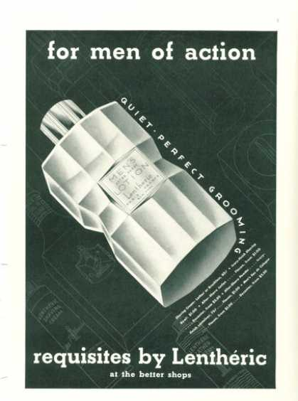 Lentheric Mens After Shave Lotion Bottle (1938)