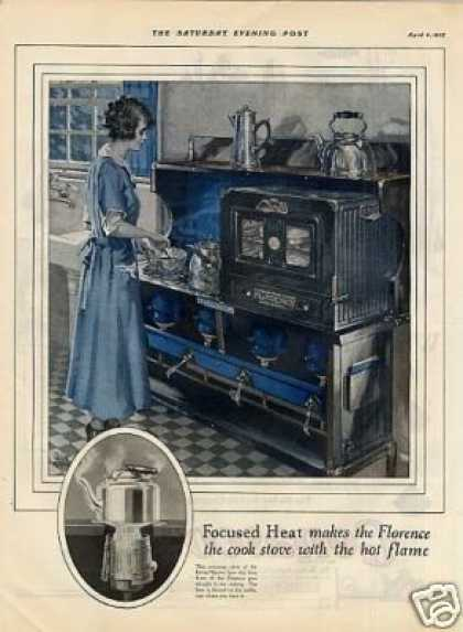 Florence Oil Range Color Ad 2 Page (1925)