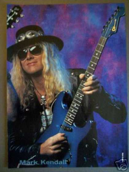 Great White Guitarist Mark Kendall Promo Photo (1989)