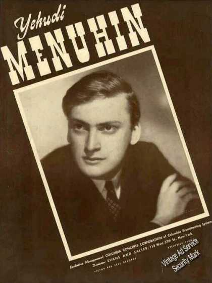 Yehudi Menuhin Photo Collectible Trade (1941)