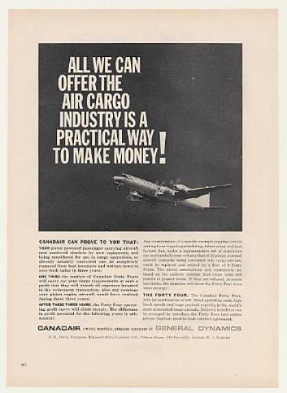 Canadair Forty Four Cargo Aircraft (1960)