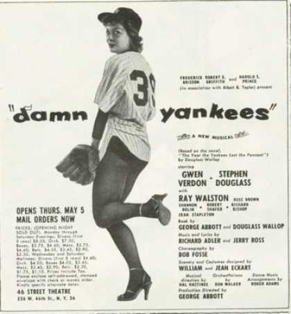 Damn Yankees Musical Gwen Verdon Douglass (1955)
