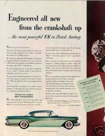 Buick Car Ad 2 Page (1957)
