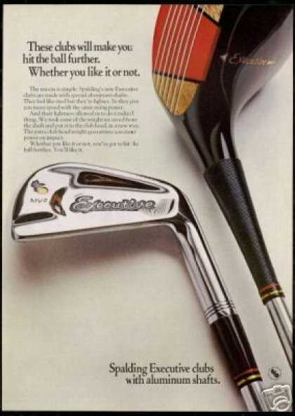 Spalding Executive Golf Clubs Photo (1969)