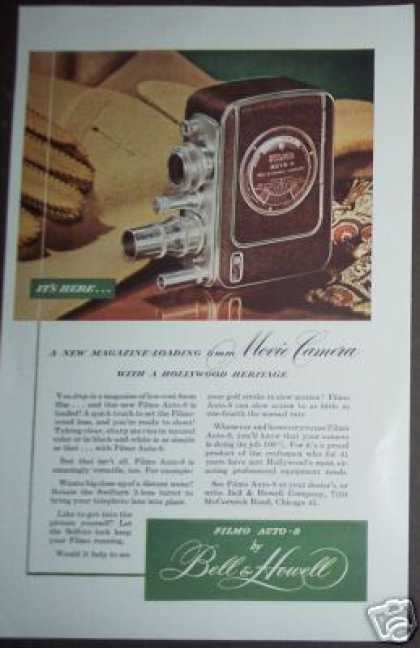 Bell & Howell Filmo Auto-8 Movie Camera (1949)
