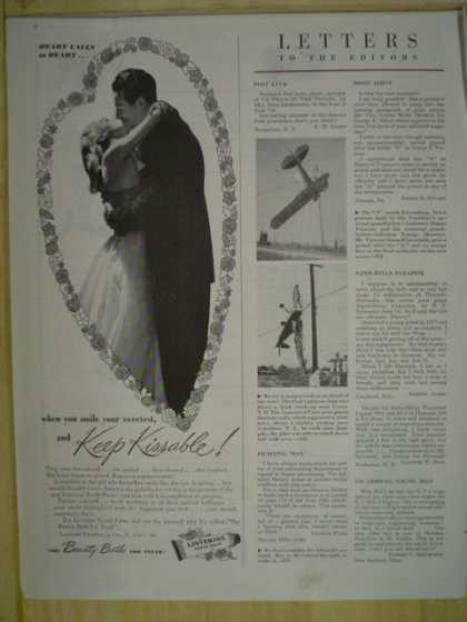 Listerine. Keep kissable. Wedding theme (1945)