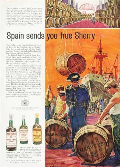Harvey's Bristol Sherry Spain Grape Pickers (1961)