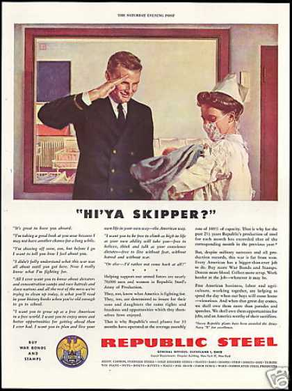Republic Steel WWII Navy Officer New Baby (1943)