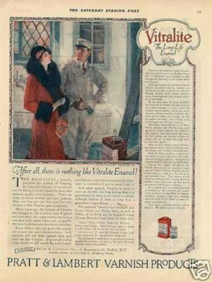 Pratt & Lambert Varnish Ad Frances Rogers Art (1926)