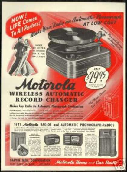 Motorola Wireless Automatic Record Changer (1940)
