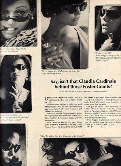 Foster Grants Sunglasses – Claudia Cardinale (1965)