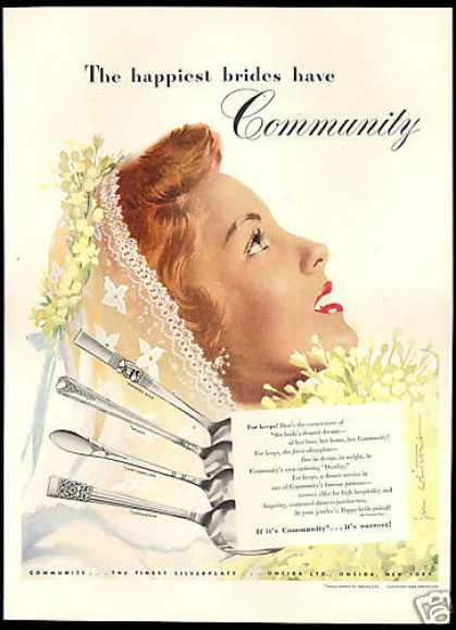 Community Silverware Jon Whitcomb Bride Art (1948)
