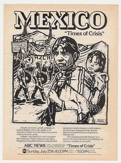 ABC News Mexico Times of Crisis Stahl art (1982)