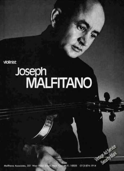 Joseph Malfitano Photo Violin Booking (1986)
