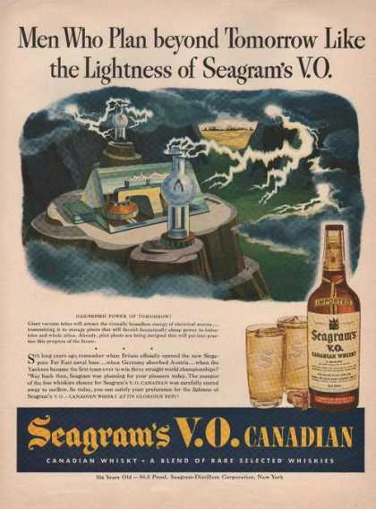 Lightness of Seagrams Whisky (1944)