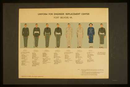 Uniform for engineer replacement center, Fort Belvoir, Va.. (1941)