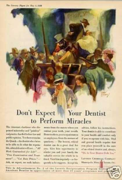 "Lavoris Color Ad ""Don't Expect Your Dentist... (1929)"