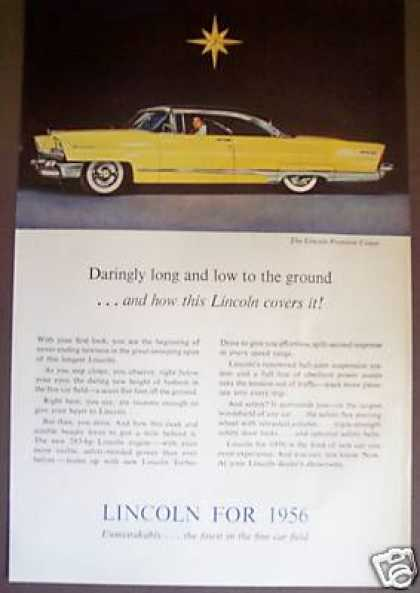 Yellow Lincoln Preiere Coupe Classic Car (1956)