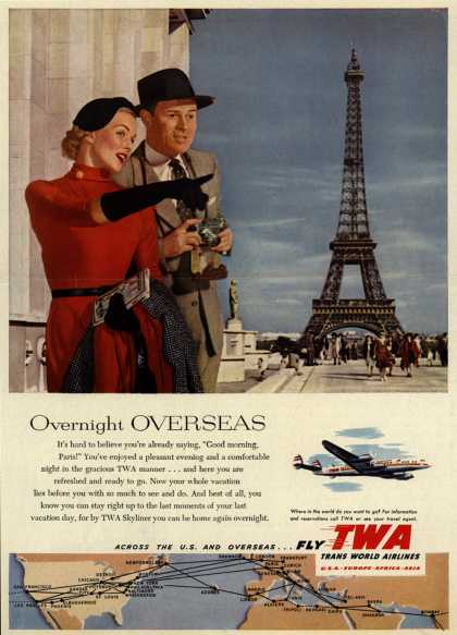 Trans World Airline's Skyliner – Overnight Overseas (1953)