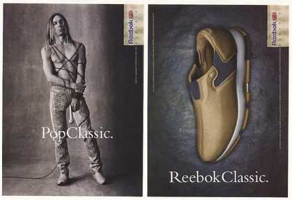 Iggy Pop Reebok Classic Funk Shoes Photo (2001)