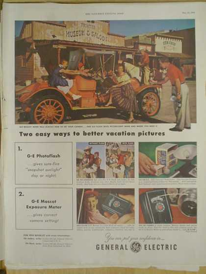 General Electric GE Easy ways to better vacation pictures. (1952)