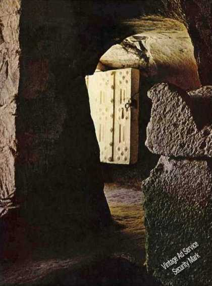 Cave Tomb at Beit She'arim Nice Magazine Photo (1967)