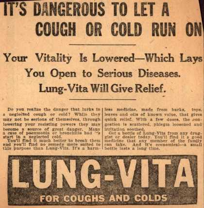 Unknown's Lung-Vita – It's Dangerous To Let A Cough Or Cold Run On