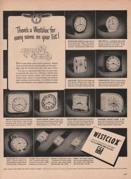 Westclox Makers of Big Ben Clocks & Watche (1949)