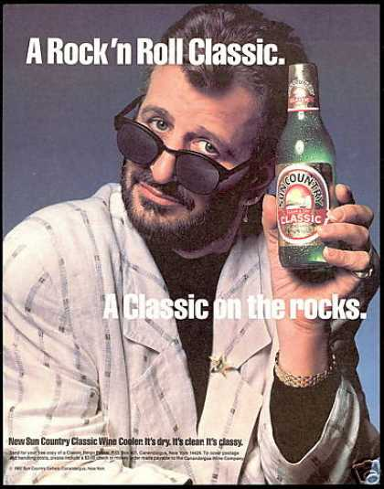 Ringo Starr Sunglasses Sun Country Wine Cooler (1987)