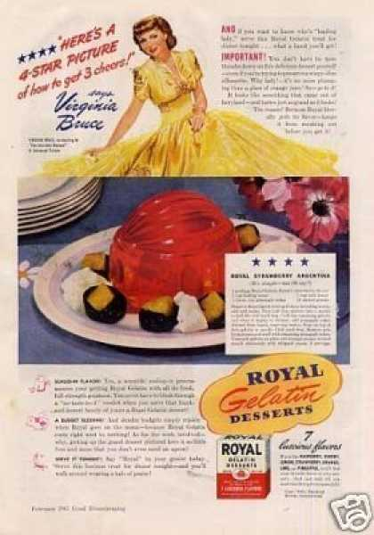 Royal Desserts Ad Virginia Bruce (1941)