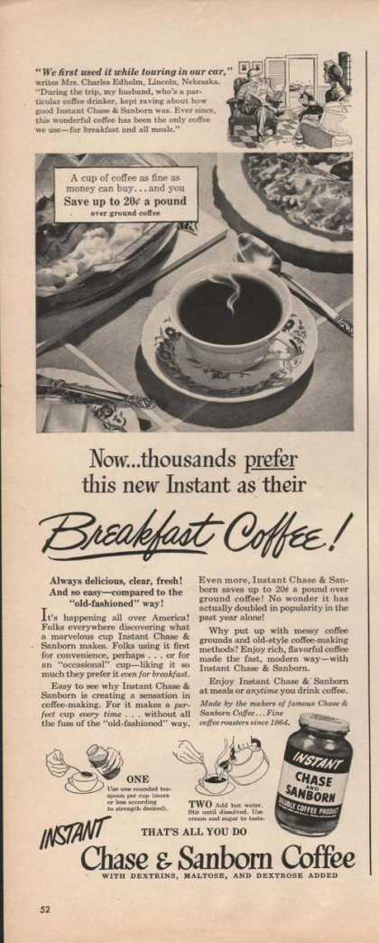 Instant Chase & Sanborn Breakfast Coffee A (1949)