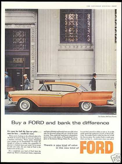 Ford 500 Town Victoria Bank of California (1957)