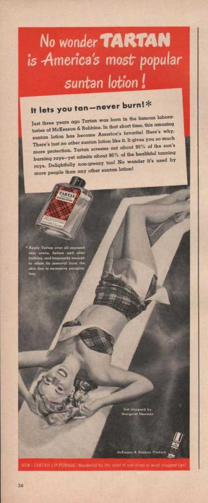 Tartan Most Popular Suntan Lotion (1949)