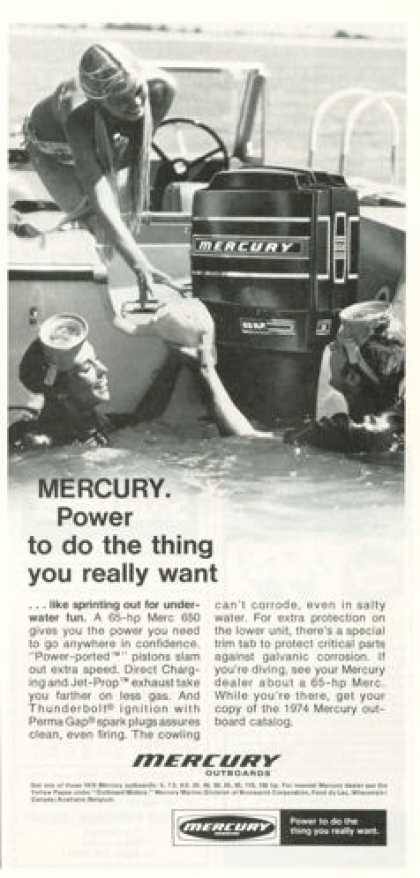 Mercury Outboard Dive Diving Boat Motor (1974)