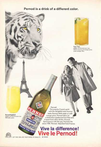 French France Pernod Fils Bottle (1966)