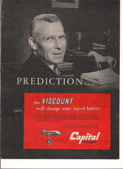 Prediction Viscount Capital Airlines (1955)