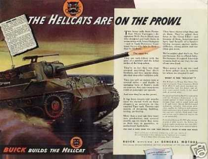 "Wwii Buick Ad ""The Hellscats Are On... (1944)"