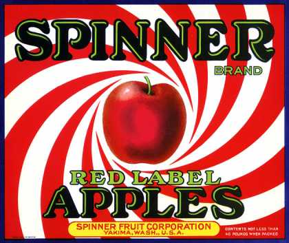 Spinner Red Label Apples, c. s (1930)