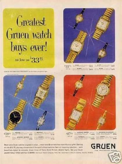 Gruen Watches (1954)