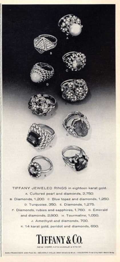 Tiffany & Co. Gold Pearl Diamone Rings (1965)