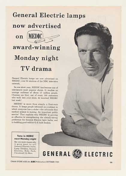 Richard Boone Medic NBC TV Show GE Lamps Trade (1955)