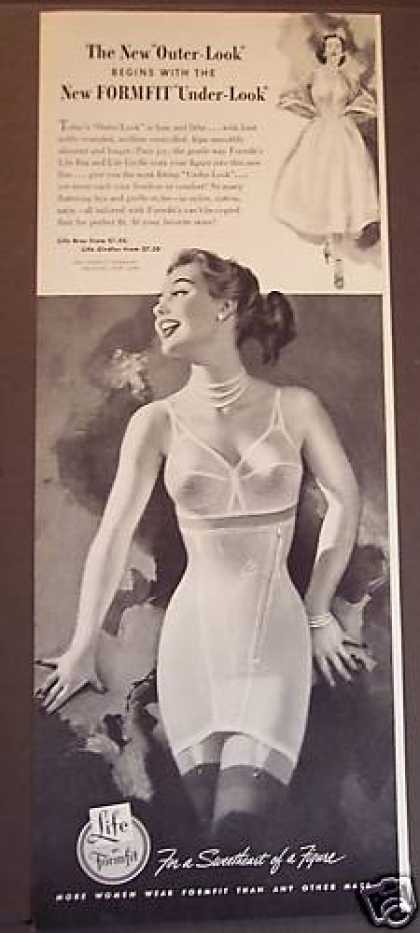 "New Formfit ""Under-look"" Bras & Girdles (1953)"