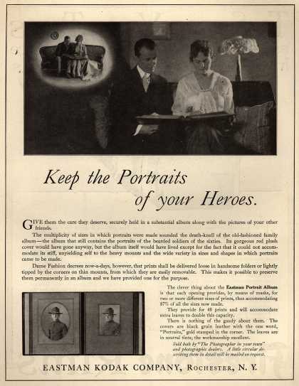Kodak's Eastman Portrait Album – Keep the Portraits of your Heroes (1917)