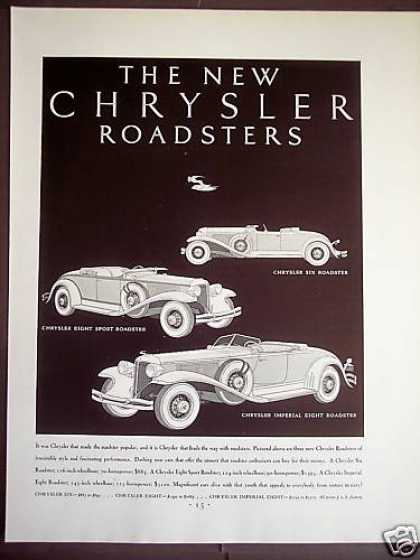 'new' Chrysler Roadsters Classic Car (1931)